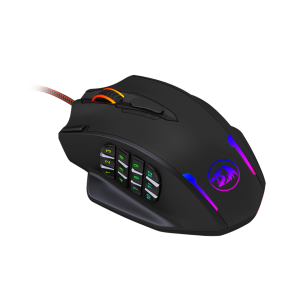 Redragon M908 IMPACT MMO Gaming Mouse up to 12,400 DPI High Precision Wired Laser Mouse