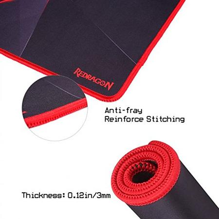 Redragon P012 Mouse Pad with Stitched Edges, Premium-Textured Mouse Mat