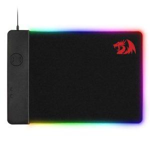 Redragon P025 Qi 10w Fast Wireless Charging RGB Backlit Mouse Padr