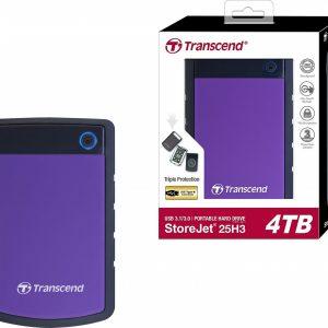 TRANSCEND TS4TSJ25H3P 4TB USB 3.0 EXTERNAL 2.5″ PORTABLE DRIVE